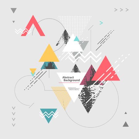 abstrakt: Modern abstrakt geometrisk bakgrund Illustration