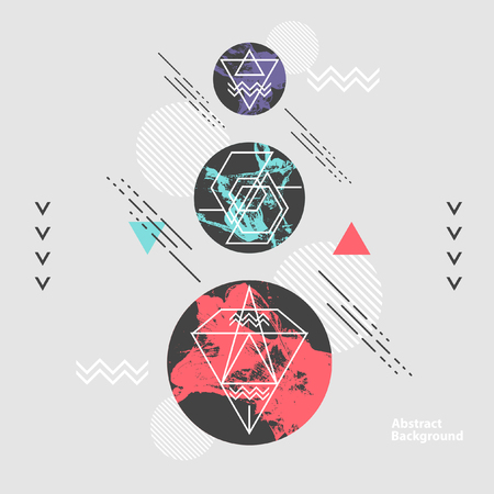 minimalistic: Abstract modern geometric background Illustration