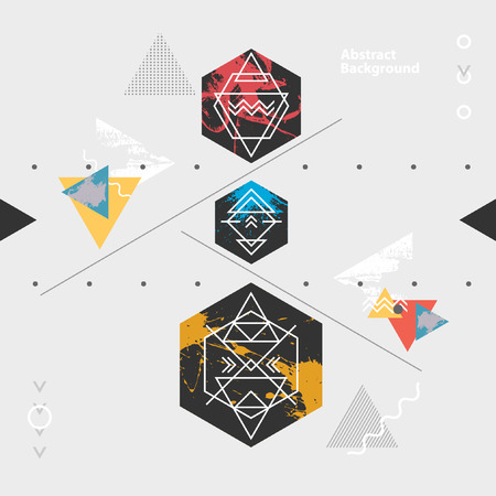 Abstract modern geometric background Ilustrace