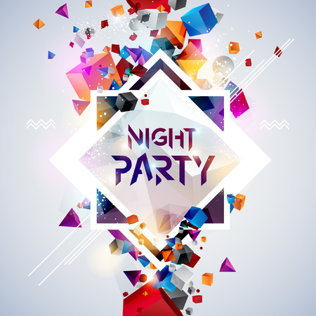backgrounds: Abstract background for party poster