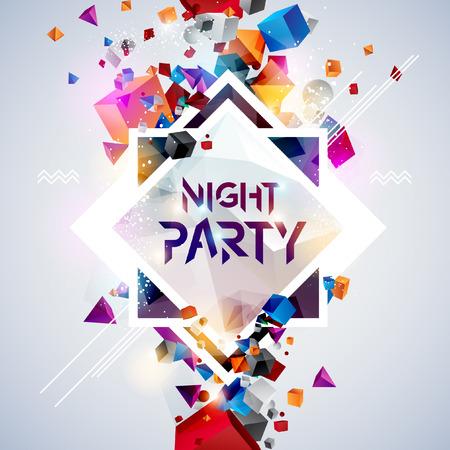 festa: Fundo abstrato para o poster do partido