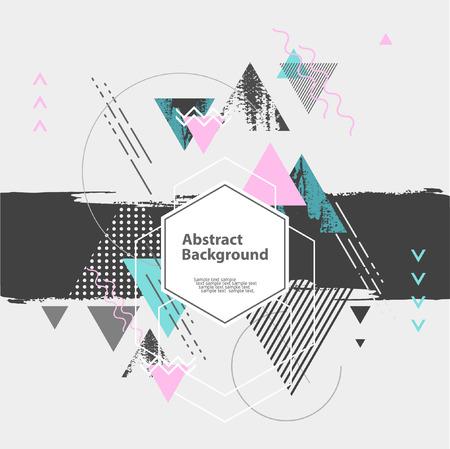 Abstrait arrière-plan géométrique moderne Banque d'images - 48629892
