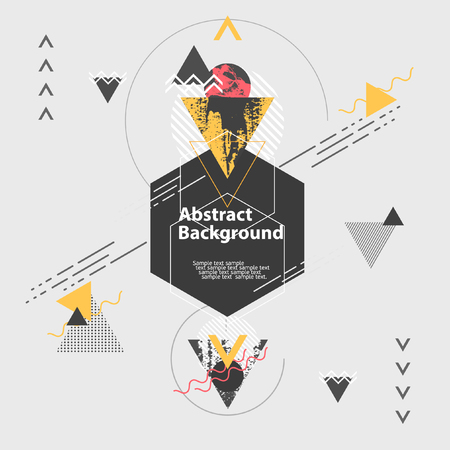 cool backgrounds: Abstract modern geometric background Illustration