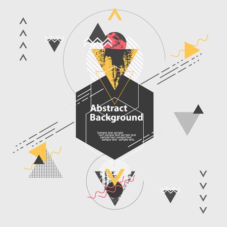 forme: Abstrait arrière-plan géométrique moderne