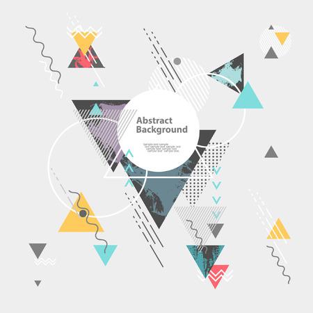 absztrakt: Absztrakt modern geometrikus háttér Illusztráció
