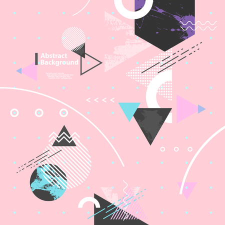 Abstract modern geometric background Иллюстрация
