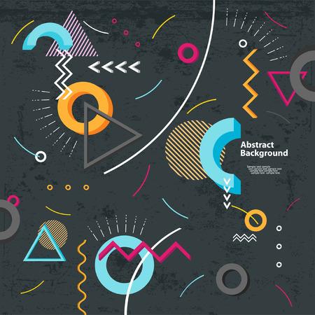 Abstract modern geometric background Illustration
