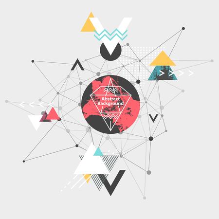 circle design: Abstract modern geometric background Illustration