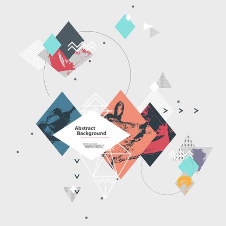 Abstrait arrière-plan géométrique moderne Banque d'images - 48825442