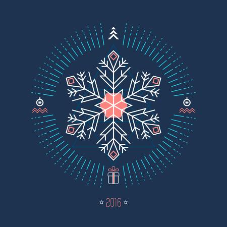 copo de nieve: geom�tricas de fondo de Navidad con copos de nieve blanca