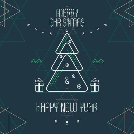 text box: Stylized Christmas poster