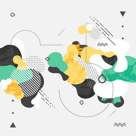 Abstrait arrière-plan géométrique moderne Banque d'images - 48825562
