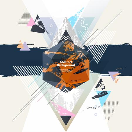 Abstrait arrière-plan géométrique moderne Banque d'images - 48825563