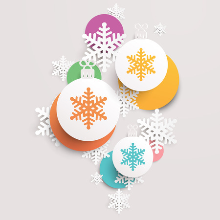 spangle: Christmas background with snowflakes Illustration