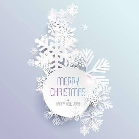 vector banner: Christmas background with snowflakes Illustration