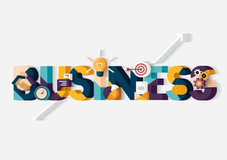 Business concept. Typografische poster.