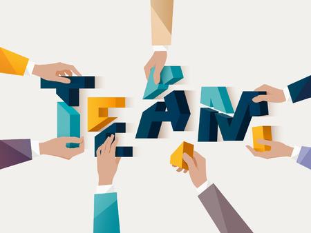 brainstorming: Teamwork concept. Typographic poster.