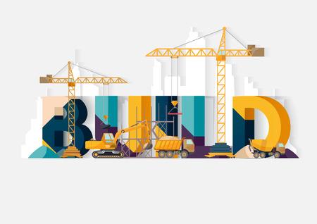 dredger: Building Construction. Typographic illustrations.