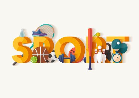 Sport concept.Typographic poster. Illustration