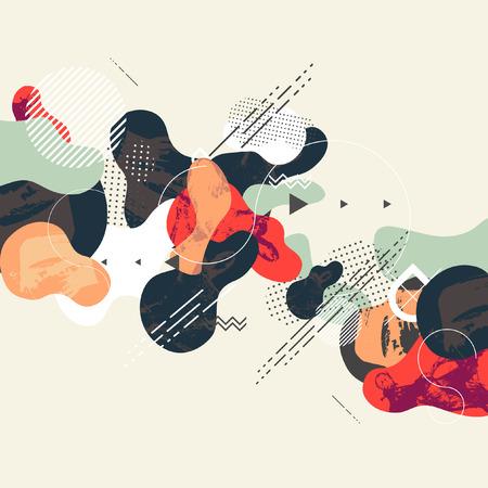 Abstract modern geometric background  イラスト・ベクター素材