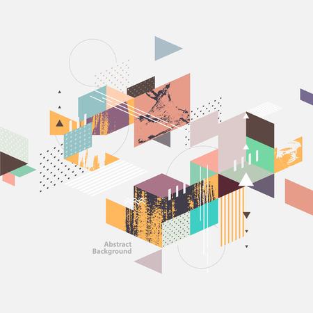 Abstract modern geometric background Vettoriali
