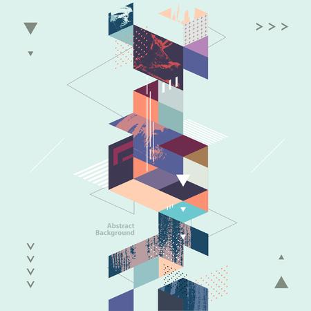 Streszczenie nowoczesne tło geometryczne Ilustracje wektorowe