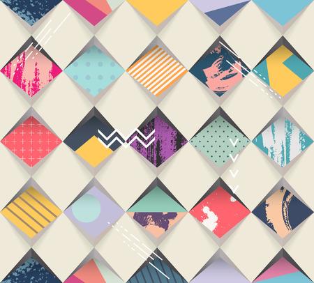 シームレスな幾何学的な背景  イラスト・ベクター素材