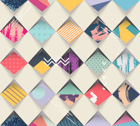 Abstract seamless geometric background Ilustracja