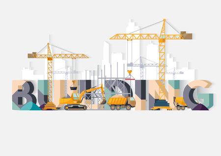 dredge: Building Construction. Typographic illustrations.