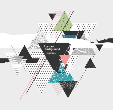 background: Fondo abstracto con elementos geométricos Vectores
