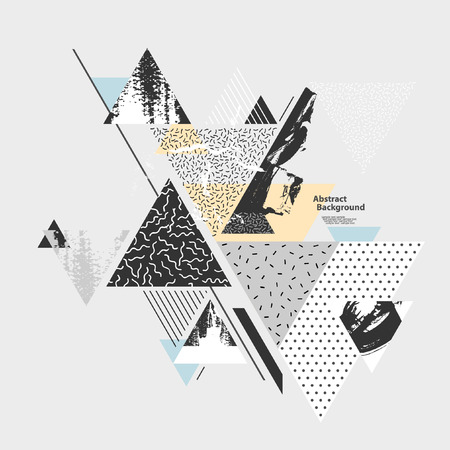 Abstract background with geometric elements Ilustracja
