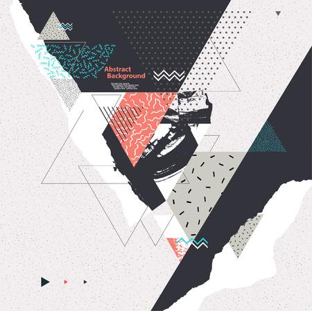 Abstracte achtergrond met geometrische elementen