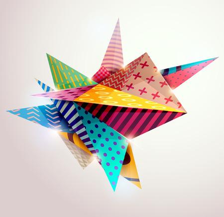 Arrière-plan de formes géométriques 3D.
