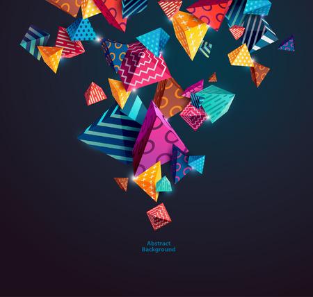Abstracte kleurrijke achtergrond met geometrische elementen Stockfoto - 54352817