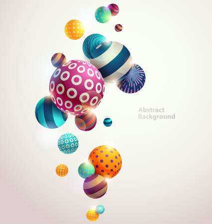 Multicolored decorative balls. Abstract vector illustration. Illusztráció