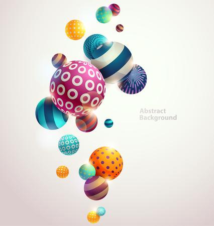 Veelkleurige decoratieve ballen. Abstracte vector illustratie. Stock Illustratie
