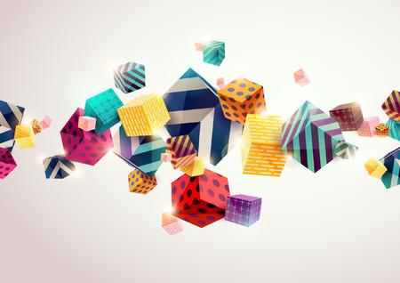 幾何学的な要素を持つ抽象的なカラフルな背景