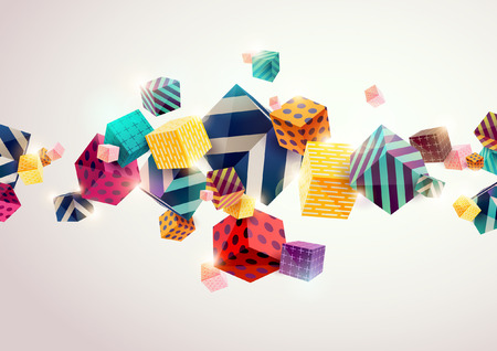 Zusammenfassung bunten Hintergrund mit geometrischen Elementen Standard-Bild - 54352912