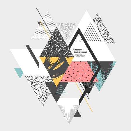 Abstracte kunst achtergrond met geometrische elementen Stock Illustratie