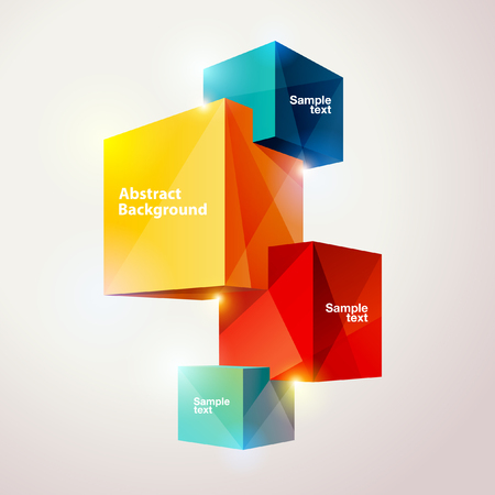Composition of colorful cubes. Ilustrace