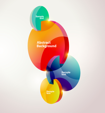 composition: Composition of colorful circles.