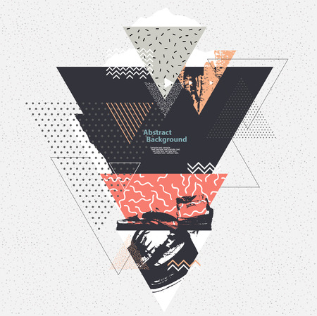 graphic elements: Abstract background with geometric elements Illustration