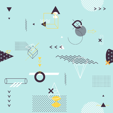 Seamless background of geometric elements Vectores