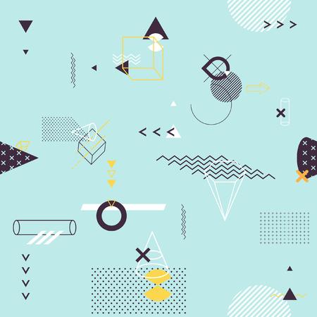 Seamless background of geometric elements Vettoriali