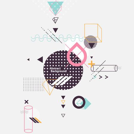 Abstracte compositie van geometrische elementen Stockfoto - 56937921