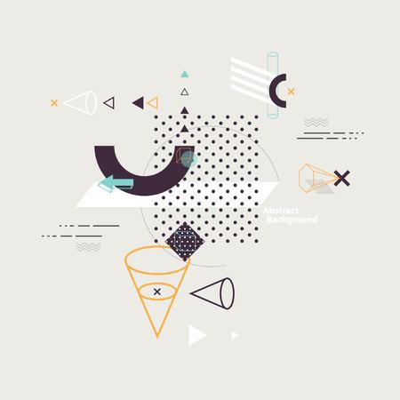 perspectiva lineal: Composición abstracta de los elementos geométricos Vectores