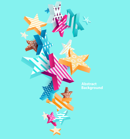 Abstract colorful background with stars Illustration