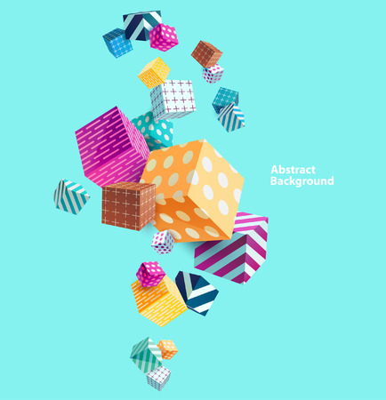 Abstract colorful background with geometric elements Zdjęcie Seryjne - 57569720