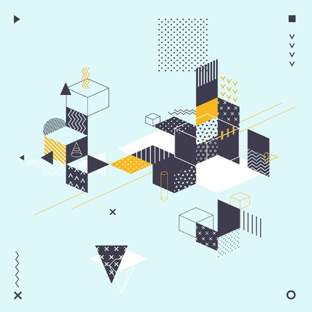 Abstracte moderne geometrische achtergrond Stock Illustratie