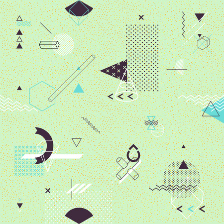 perspectiva lineal: Seamless background of geometric elements Vectores
